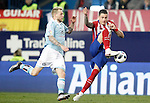 Atletico de Madrid's Angel Correa (r) and Celta de Vigo's John Guidetti during Spanish Kings Cup match. January 27,2016. (ALTERPHOTOS/Acero)
