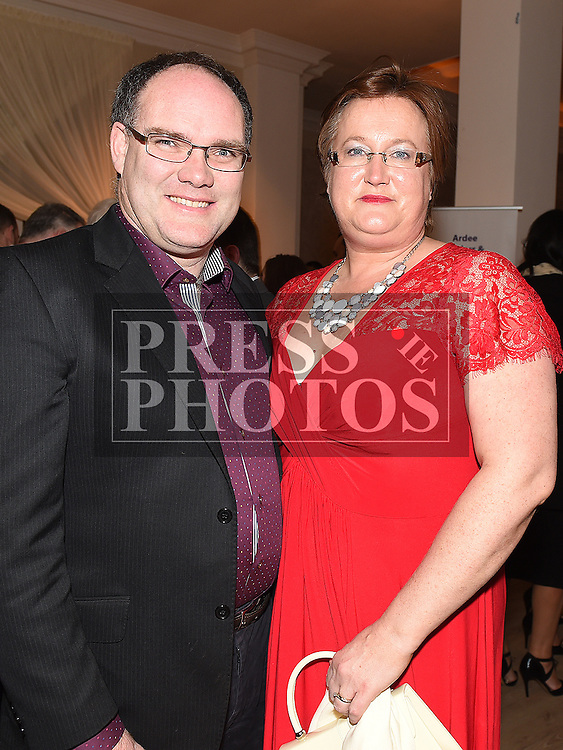 Liam and Anita Halpenny pictured at the Ardee Traders annual awards night in the Nuremore Hotel. Photo:Colin Bell/pressphotos.ie