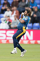 Lasith Malinga (Sri Lanka) during Afghanistan vs Sri Lanka, ICC World Cup Cricket at Sophia Gardens Cardiff on 4th June 2019