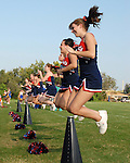 St. Martin's Episcopal School Cheerleaders perform during a game against Ecole Classique.