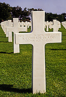 Carthage, Tunisia. American World War II Cemetery.  Unkbown Soldiers, 1st. and 2nd. in line.