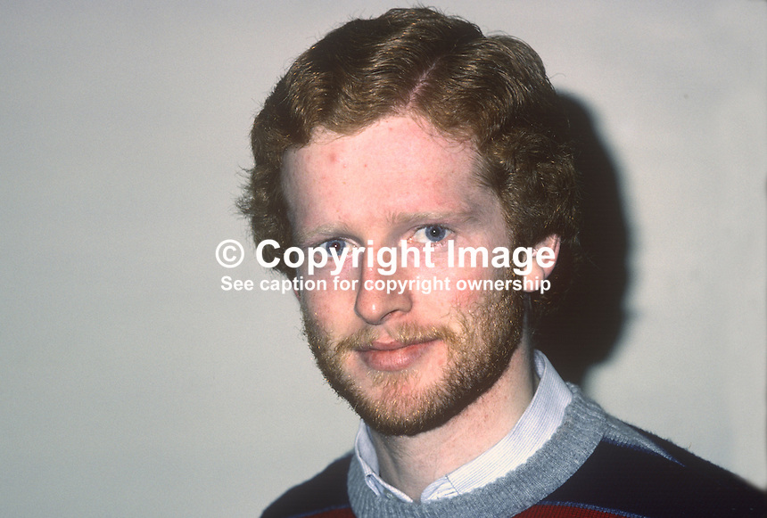 Ger Holohan, squash player, Irish International, January 1981, 198101000013GH..Copyright Image from Victor Patterson, 54 Dorchester Park, Belfast, United Kingdom, UK...For my Terms and Conditions of Use go to http://www.victorpatterson.com/Victor_Patterson/Terms_%26_Conditions.html