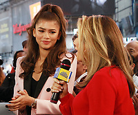 NEW YORK, NY - OCTOBER 3: Zendaya at Good Morning America in New York City on October 03, 2017. <br /> CAP/MPI/RW<br /> &copy;RW/MPI/Capital Pictures