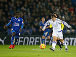 Eden Hazard of Chelsea attempts to thread a pass past Ngolo Kante of Leicester City  - English Premier League - Leicester City vs Chelsea - King Power Stadium - Leicester - England - 14th December 2015 - Picture Simon Bellis/Sportimage