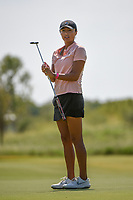 Gabby Lemieux (USA) watches her putt on 1 during the round 2 of the Volunteers of America Texas Classic, the Old American Golf Club, The Colony, Texas, USA. 10/4/2019.<br /> Picture: Golffile | Ken Murray<br /> <br /> <br /> All photo usage must carry mandatory copyright credit (© Golffile | Ken Murray)