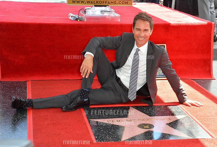 "LOS ANGELES, CA. September 13, 2018: Eric McCormack at the Hollywood Walk of Fame Star Ceremony honoring ""Will & Grace"" star Eric McCormack."