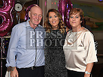 Amanda McGuirk celebrating her 30th birthday in the Thatch with her parents Neil and Jean. Photo:Colin Bell/pressphotos.ie