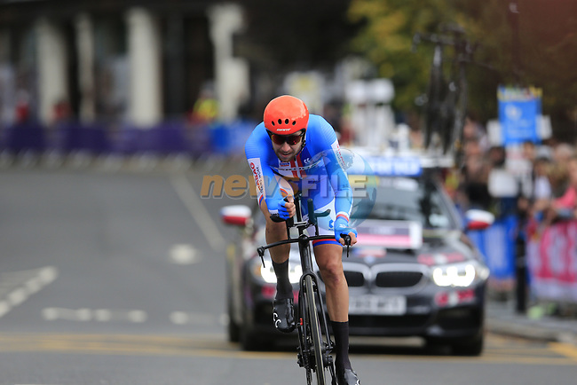 Josef Cerny (CZE) in action during the Men Elite Individual Time Trial of the UCI World Championships 2019 running 54km from Northallerton to Harrogate, England. 25th September 2019.<br /> Picture: Eoin Clarke | Cyclefile<br /> <br /> All photos usage must carry mandatory copyright credit (© Cyclefile | Eoin Clarke)