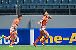 Jeju United Defender Chung Woon (R) celebrating his score during the AFC Champions League 2017 Group H match Between Jeju United FC (KOR) vs Gamba Osaka (JPN) at the Jeju World Cup Stadium on 09 May 2017 in Jeju, South Korea. Photo by Marcio Rodrigo Machado / Power Sport Images