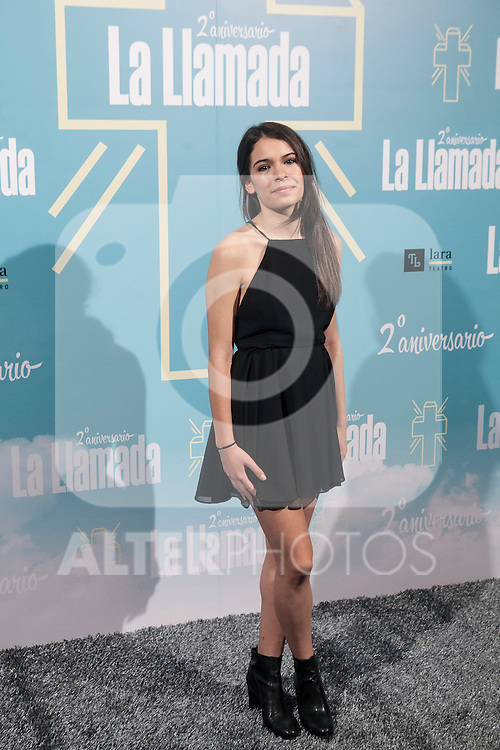 Claudia Traisac attends La Llamada theater play in Madrid, Spain. April 15, 2015. (ALTERPHOTOS/Victor Blanco)
