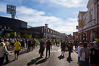 General view outside the stadium pre match during the Premier League match between Watford and Arsenal at Vicarage Road, Watford, England on 16 September 2019. Photo by Andy Rowland.