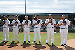 May 22, 2014; Stockton, CA, USA; Pepperdine Waves during the WCC Baseball Championship at Banner Island Ballpark.