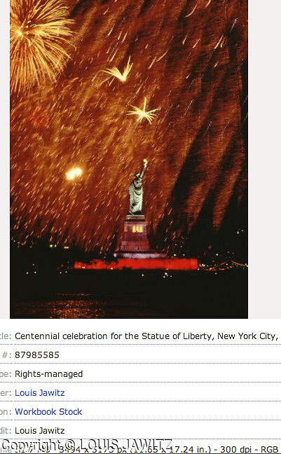 Centennial celebration for the Statue of Liberty, New York City, New York, USA