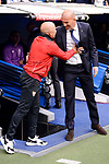 Real Madrid's coach Zinedine Zidane and Sevilla FC coach Jorge Sampaoli during La Liga match between Real Madrid and Sevilla FC at Santiago Bernabeu Stadium in Madrid, May 14, 2017. Spain.<br /> (ALTERPHOTOS/BorjaB.Hojas)