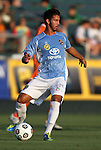 02 June 2012: Puerto Rico's Justin Fojo (PUR). The Carolina RailHawks defeated the Puerto Rico Islanders 2-1 at WakeMed Soccer Stadium in Cary, NC in a 2012 North American Soccer League (NASL) regular season game.