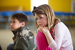 Children's book author Matthew Gollub visits Oak Elementary School