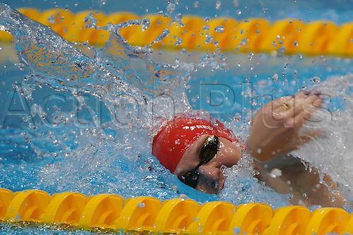 06.09.2012 London, England. Aquatics Centre. Women's 100m Freestyle S8. Heather Frieriksen (GBR) wins the Silver medal during Day 8 of the Paralympics from the Aquatics Centre.