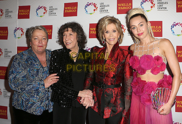 Century City, CA - November 07 Lorri L. Jean, Lily Tomlin, Jane Fonda, Miley Cyrus Attending 46th Anniversary Gala Vanguard Awards - Arrivals At the Hyatt Regency Century Plaza On November 07, 2015. <br /> CAP/MPI/FS<br /> &copy;FS/MPI/Capital Pictures