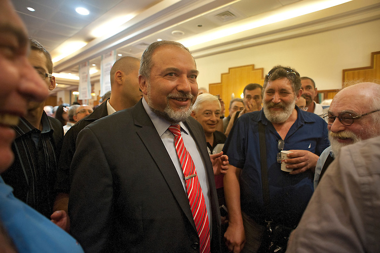 Israel's Foreign Minister Avigdor Lieberman, during an event celebrating towards the new Hebrew year, held by his party &quot;Israel Beitenu&quot; in Jerusalem, Israel.<br /> <br /> Photo by Ahikam Seri