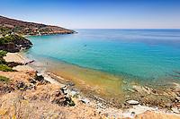 Delavogia beach in Andros, Greece