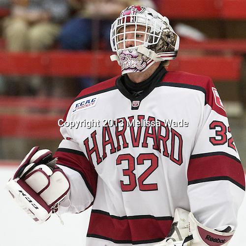 Peter Traber (Harvard - 32) - The visiting Boston College Eagles defeated the Harvard University Crimson 5-1 on Wednesday, November 20, 2013, at Bright-Landry Hockey Center in Cambridge, Massachusetts.