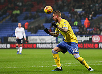 Leeds United's Pontus Jansson clears with a header<br /> <br /> Photographer Andrew Kearns/CameraSport<br /> <br /> The EFL Sky Bet Championship - Bolton Wanderers v Leeds United - Saturday 15th December 2018 - University of Bolton Stadium - Bolton<br /> <br /> World Copyright &copy; 2018 CameraSport. All rights reserved. 43 Linden Ave. Countesthorpe. Leicester. England. LE8 5PG - Tel: +44 (0) 116 277 4147 - admin@camerasport.com - www.camerasport.com