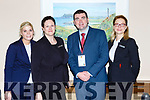 Minister Brendan Griffin with Cathy O'Donoghue, Danielle Delaney and Kamila O'Connor at the Lets Talk Tourism seminar in the Brehon Hotel on Friday