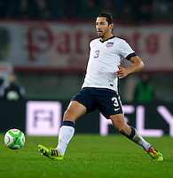 VIENNA, Austria - November 19, 2013: Omar Gonzalez during a 0-1 loss to host Austria during the international friendly match between Austria and the USA at Ernst-Happel-Stadium.