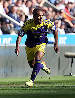 Pictured: Wayne Routledge of Swansea. Saturday 19 April 2014<br />