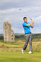 Jamie Sutherland (Galgorm Castle) on the 13th tee during Round 2 of The South of Ireland in Lahinch Golf Club on Sunday 27th July 2014.<br /> Picture:  Thos Caffrey / www.golffile.ie
