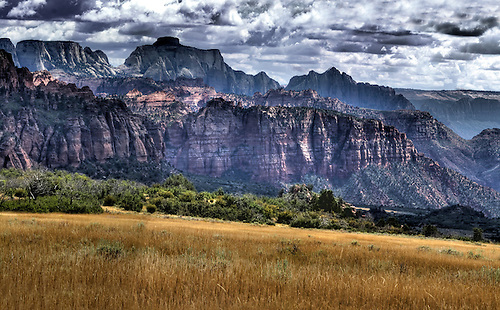 Panorama from the Kolob Terrace area at Zion National Park, Utah