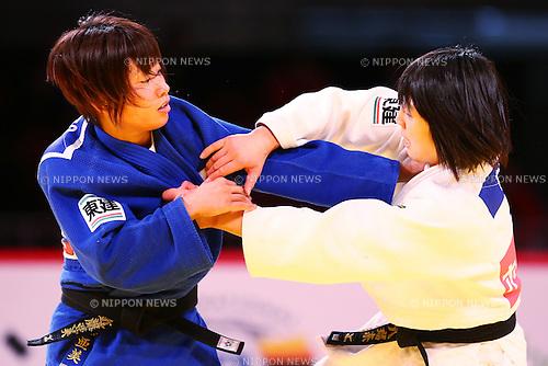 (L-R)<br /> Ami Kondo,<br /> Haruna Asami (JPN), <br /> DECEMBER 4, 2015 - Judo : <br />  IJF Grand Slam Tokyo 2015 International Judo Tournament<br /> Women's -48kg Final <br /> at Tokyo Metropolitan Gymnasium, Tokyo, Japan. <br /> (Photo by Shingo Ito/AFLO SPORT)