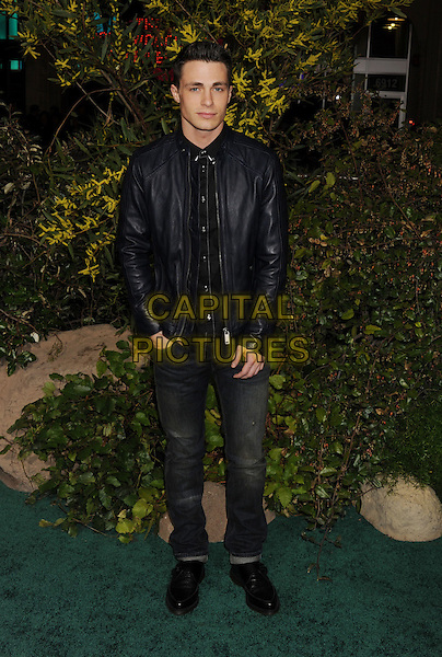 "Colton Haynes.""Jack The Giant Slayer"" Los Angeles Premiere held at Grauman's Chinese Theatre, Hollywood, California, USA..February 26th, 2013.full length black blue leather jacket  jeans denim.CAP/ROT/TM.©Tony Michaels/Roth Stock/Capital Pictures"