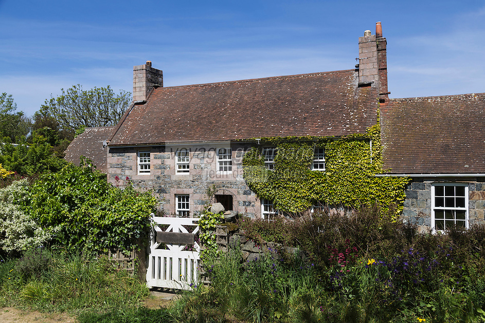 Royaume-Uni, îles Anglo-Normandes, île de Sark (Sercq) : Vieille maison de l'Ile// United Kingdom, Channel Islands, Sark Island (Sercq)  old  house on the island