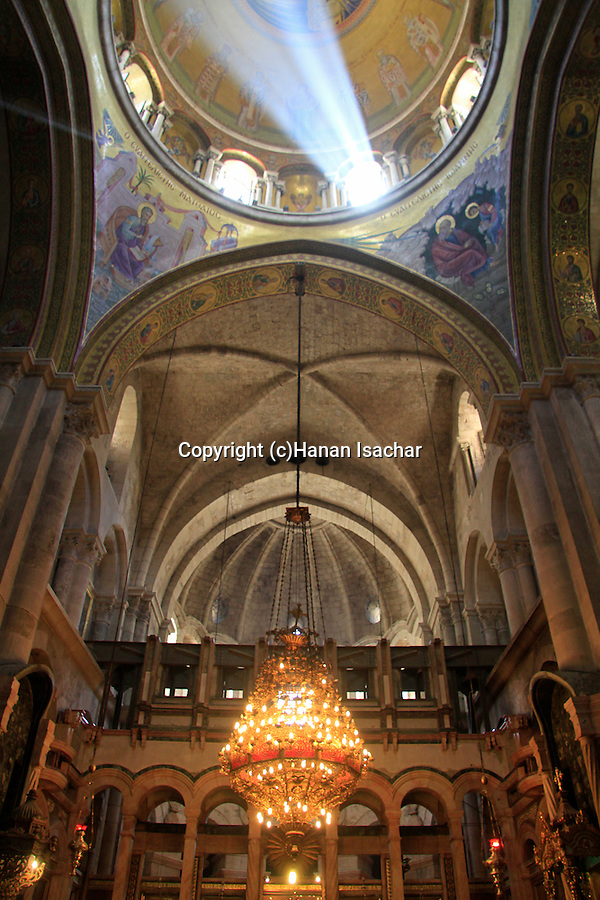 Israel, Jerusalem, the Katholikon at the Church of the Holy Sepulchre