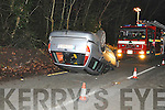 The scene of a single-vehicle collision close to the Suspension bridge in Kenmare last Thursday, January 5th.