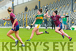 Lorraine Scanlon Kerry gets her shot in under pressure from Maud Anne Foley Westmeath during their All Ireland SFC game in Fitzgerald Stadium on Sunday