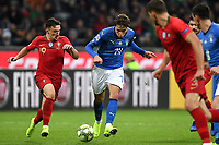 MArio Rui of Portugal and Federico Chiesa of Italy compete for the ball during the Nations League League A group 3 football match between Italy and Portugal at stadio Giuseppe Meazza, Milano, November, 17, 2018 <br /> Foto Andrea Staccioli / Insidefoto