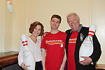 Jerry ver Dorn and Liz Keifer pose with Matthew - 13th Annual Daytime Stars and Strikes Bowling for Autism on April 23, 2016 at Bowler City Lanes in Hackensack, NJ hosted by Jerry ver Dorn and Liz Keifer  (Photo by Sue Coflin/Max Photos)