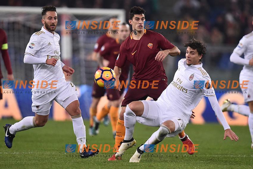 Manuel Locatelli Milan, Diego Perotti Roma <br /> Roma 12-12-2016 Stadio Olimpico Football <br /> Campionato Serie A 2016/2017 <br /> AS Roma - Milan <br /> Foto Andrea Staccioli / Insidefoto
