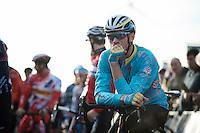 Lars Boom (NLD/Astana) pre-race<br /> <br /> UCI Cyclocross World Cup Heusden-Zolder 2015