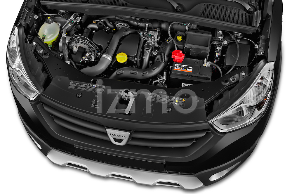 Dacia Dokker Stepway 2015 5 Door Mini MPV High Angle Engine detail view