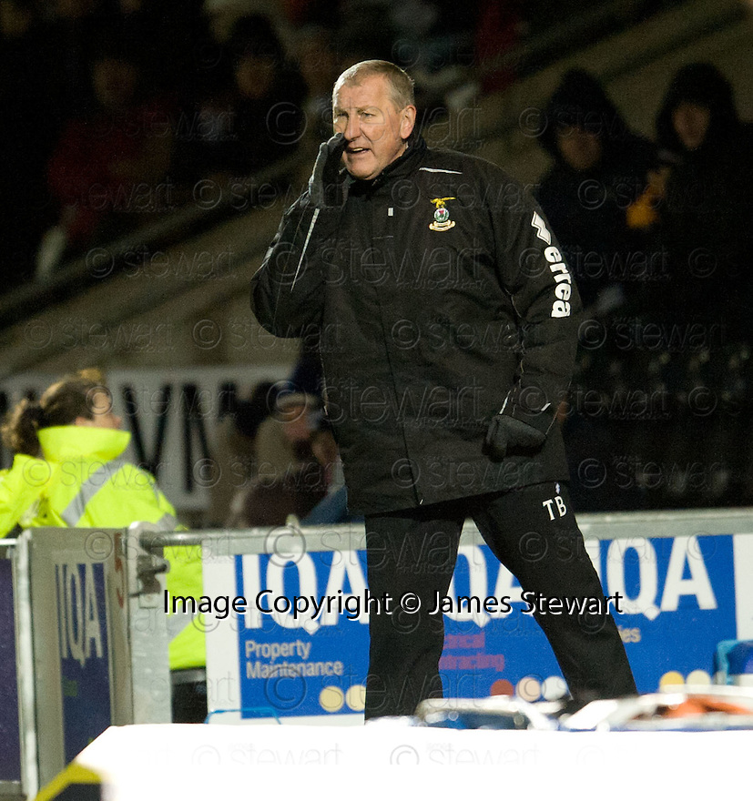 CALEY MANAGER TERRY BUTCHER..03/12/2011   Copyright  Pic : James Stewart.sct_jsp013_st_mirren_v_ict  .James Stewart Photography 19 Carronlea Drive, Falkirk. FK2 8DN      Vat Reg No. 607 6932 25.Telephone      : +44 (0)1324 570291 .Mobile              : +44 (0)7721 416997.E-mail  :  jim@jspa.co.uk.If you require further information then contact Jim Stewart on any of the numbers above.........
