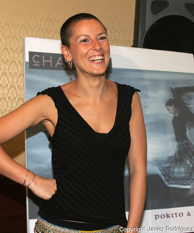 "Spanish singer Maria del Mar Rodriguez, best known La Mari, poses for a photograph during a press conference in a Mexico City hotel, March 30, 2006. Rodriguez and his band Chambao are presenting their new music CD ""Pokito a Poko"" (Little by little). Photo by Javier Rodriguez"
