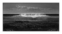 Monochrome images of breaking waves