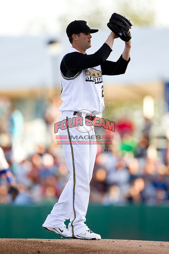 Casey Kelly (23) of the San Antonio Missions on the mound during a game against the North All-Stars 2011 in the Texas League All-Star game at Nelson Wolff Stadium on June 29, 2011 in San Antonio, Texas. (David Welker / Four Seam Images)..