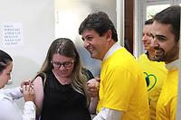Porto Alegre (RS), 10/04/2019 - Saúde / Campanha / Vacinação - O ministro da Saúde, Luiz Henrique Mandetta, durante lançamento da Campanha Nacional de Vacinação contra a Influenza em Porto Alegre (RS) nesta quarta-feira (10) (Foto: Naian Meneghetti/ Brazil Photo Press)
