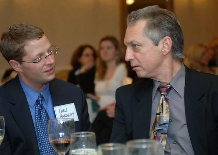 Chris Hardesty and Jeff Schamberry seen at the Press Club of Long Island Annual Awards dinner at the Woodbury Country Club in Woodbury on June 8, 2006. (Photo copyright Jim Peppler 2006).