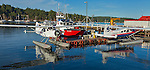 British Columbia, Canada<br /> View of sea planes in Ganges Harbor, Saltspring Island. Canadian Gulf Islands