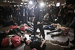 Dec 4, 2014. Yunghi Kim/Contact Press Images. New York City. Eric Garner Protest.  Grand jury declines to indict a New York City police officer in the death of Eric Garner.  Grand Central Station.